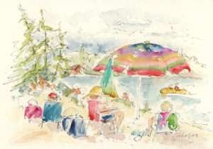 Beach Brolley Bonkers-w
