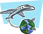 Plane&Globe-w