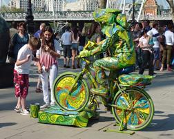 Lizard on Bike