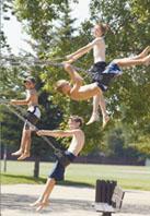 Boys On Swing-w
