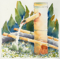 Bamboo Water Spout-w