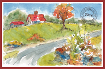 Vermont Road PW Postcard-w