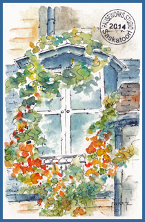 Parisian Window PW Postcard-w