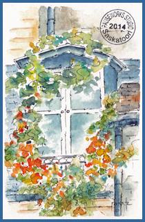 Parisian Window PW Postcard-w