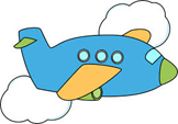 Airplane crtoon-w