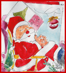 Santa Sleigh Cropped600-withsig-w