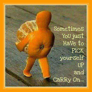 Pick Yourself Up Orange-w