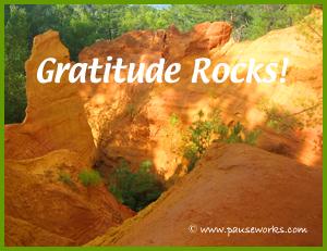 Gratitude Rocks Poster-w