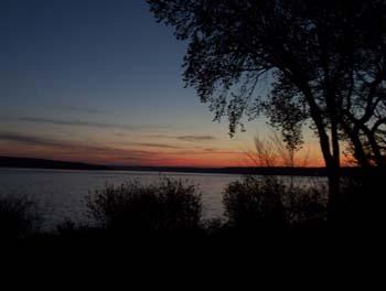 Lurene T Sunset From Deck